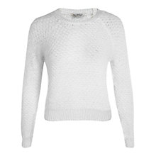 Buy Miss Selfridge Knitted Fluffy Jumper, Cream Online at johnlewis.com