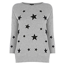 Buy Warehouse Star Bead Jumper, Light Grey Online at johnlewis.com