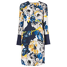 Buy L.K. Bennett Surey Silk T-Shirt Dress, Dark Navy Online at johnlewis.com
