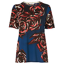 Buy L.K. Bennett Joe Rose Print Top, Rose Online at johnlewis.com