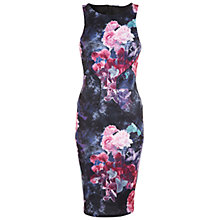 Buy Miss Selfridge, Floral Panel Dress, Assorted Dark Online at johnlewis.com