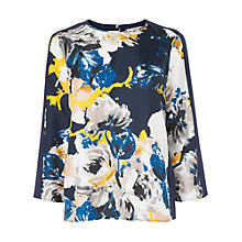 Buy L.K. Bennett Surrey Silk T-Shirt, Mustard Online at johnlewis.com