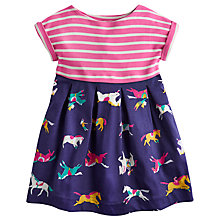 Buy Little Joule Girls' Emmie Half Horse Dress, Navy Online at johnlewis.com