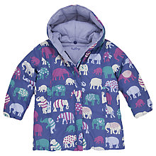 Buy Hatley Girls' Elephants Reversible Winter Puffer Coat, Multi Online at johnlewis.com