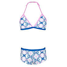 Buy Platypus Girls' Patterned Boyleg Bikini, Blue Online at johnlewis.com