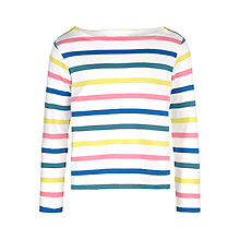 Buy John Lewis Girl Multi Stripe Long Sleeve Top, Multi Online at johnlewis.com