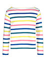 John Lewis Girl Multi Stripe Long Sleeve Top, Multi