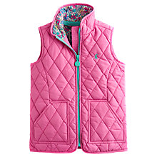Buy Little Joule Girls' Georgia Quilted Gilet, Pink Online at johnlewis.com