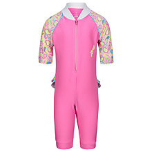 Buy Platypus Girls' Paisley Sunsuit, Pink Online at johnlewis.com