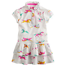 Buy Little Joule Girls' Lawn Horse Print Jersey Dress, Cream/Multi Online at johnlewis.com