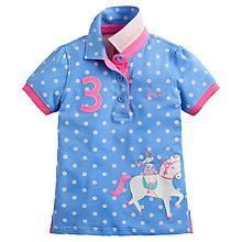 Buy Little Joule Girls' Moxie Polka Dot Polo Shirt, Blue Online at johnlewis.com