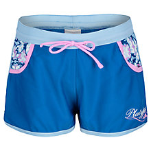 Buy Platypus Girls' Mosaic Print Board Shorts, Sapphire Online at johnlewis.com