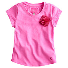 Buy Little Joule Girls' Corita Flower T-Shirt, Pink Online at johnlewis.com