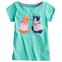 Buy Little Joule Girls' Maggie Copycat T-Shirt, Green Online at johnlewis.com