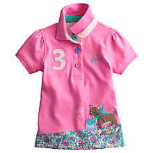 Buy Little Joule Girls' Moxie Dog Polo Shirt, Pink Online at johnlewis.com
