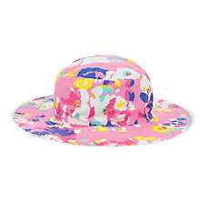 Buy John Lewis Girl Bold Floral Pattern Reversible Sun Hat, Pink/Multi Online at johnlewis.com