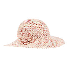 Buy John Lewis Girl Straw Cloche Hat, Pink Online at johnlewis.com
