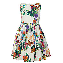 Buy John Lewis Girl Tropical Floral Print Prom Dress, White/Multi Online at johnlewis.com