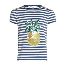 Buy John Lewis Girl Short Sleeve Pineapple Striped T-Shirt Online at johnlewis.com