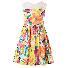 Buy John Lewis Girl Bright Floral Print Dress, Multi Online at johnlewis.com