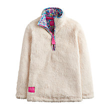 Buy Little Joule Girls' Merridie Fluffy Fleece, Cream Online at johnlewis.com