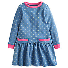 Buy Little Joule Girls' Bangles Horseshoe Dress, Blue Online at johnlewis.com