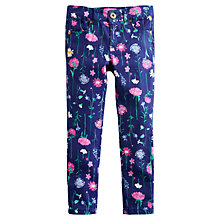 Buy Little Joule Girls' Pipple Floral Print Trousers, Blue/Multi Online at johnlewis.com