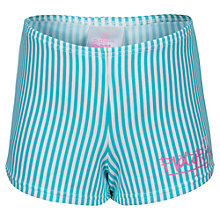 Buy Platypus Girls' Stripe Boyleg Swim Shorts, Aqua Online at johnlewis.com