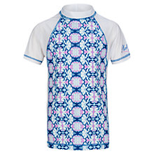 Buy Platypus Girls' Patterned Short Sleeve Rash Guard, Sapphire Online at johnlewis.com