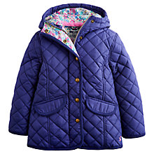 Buy Little Joule Girls' Marcotte Quilted Jacket, Navy Online at johnlewis.com
