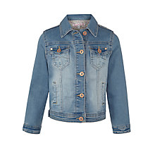 Buy John Lewis Girl Denim Jacket, Denim Online at johnlewis.com