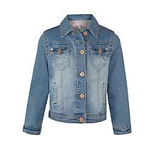 John Lewis Girl Denim Jacket, Blue