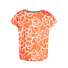 Buy Kin by John Lewis Girls' Floral Print T-Shirt, Tomato Red Online at johnlewis.com
