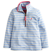 Buy Little Joule Girl's Fairdale Half-Zip Sweatshirt, Blue Online at johnlewis.com