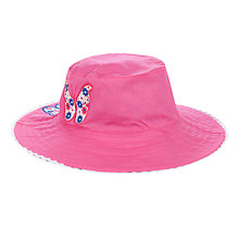 Buy John Lewis Girl Reversible Sun Hat, Pink/Blue Online at johnlewis.com