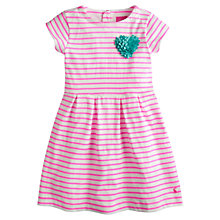 Buy Little Joule Girls' Lara Striped Dress, Pink Online at johnlewis.com