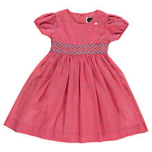 Buy Question Everything Girls' Ozzy Hand Smocked Spot Dress, Pink Online at johnlewis.com