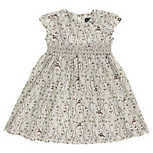 Buy Question Everything Girls' Short Sleeve Sofia Bird Dress, Cream/Multi Online at johnlewis.com