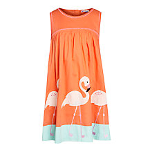 Buy John Lewis Girl Flamingo Embroidered Dress, Sunset Online at johnlewis.com