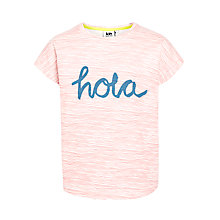 Buy Kin by John Lewis Girls' 'Hola' T-Shirt, White/Red Online at johnlewis.com