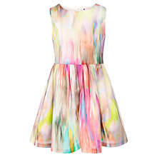 Buy John Lewis Girl Fluroscent Blur Dress, Multi Online at johnlewis.com