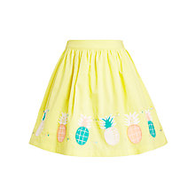 Buy John Lewis Girl Pineapple Applique Skirt, Yellow Online at johnlewis.com