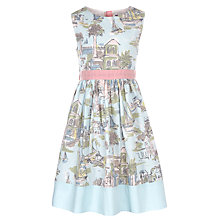Buy John Lewis Girl Boat Scene Prom Dress, Aqua Online at johnlewis.com