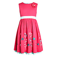 Buy John Lewis Girl Embroidered Dress, Pink Online at johnlewis.com