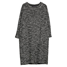 Buy Violeta by Mango Flecked Jersey Dress, Black Online at johnlewis.com