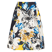 Buy L.K. Bennett Elle Floral Print Full Skirt, Mustard Online at johnlewis.com