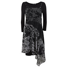 Buy Mint Velvet Nikki Print Layered Dress, Multi Grey / Black Online at johnlewis.com