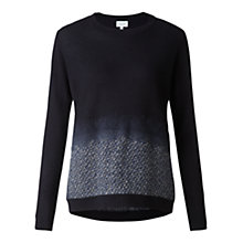 Buy Jigsaw Ombre Hem Jumper, Navy Online at johnlewis.com