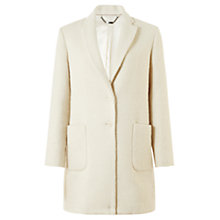 Buy Jigsaw Boucle Coat, Winter White Online at johnlewis.com