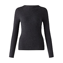 Buy Jigsaw Cashmere Slim Rib Jumper Online at johnlewis.com